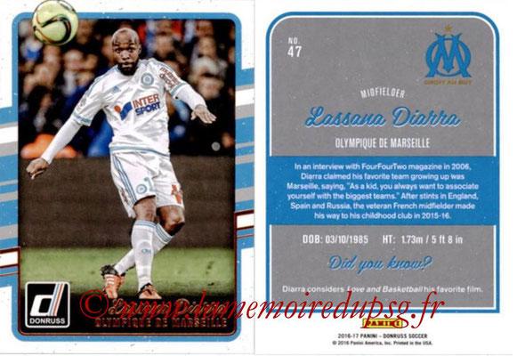 2016 - Panini Donruss Cards - N° 047 - Lassana DIARRA (Olympique de Marseille)