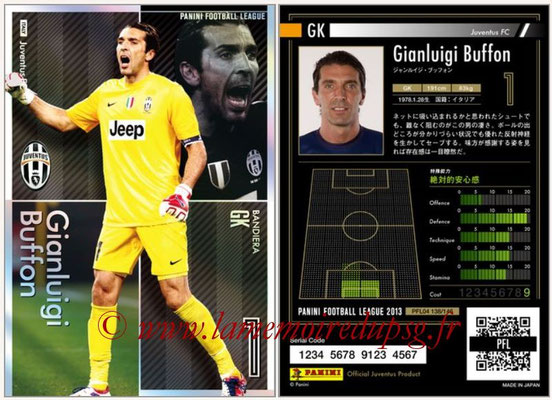 Panini Football League 2013 - PFL04 - N° 138 - Gianluigi BUFFON (Juventus FC) (Bandiera)