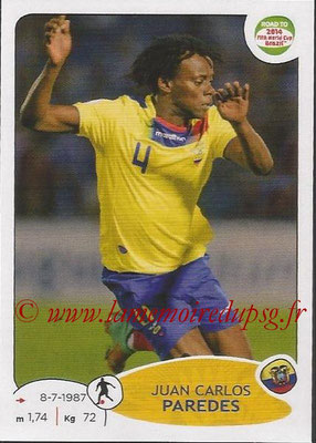 2014 - Panini Road to FIFA World Cup Brazil Stickers - N° 194 - Juan Carlos PAREDES (Equateur)