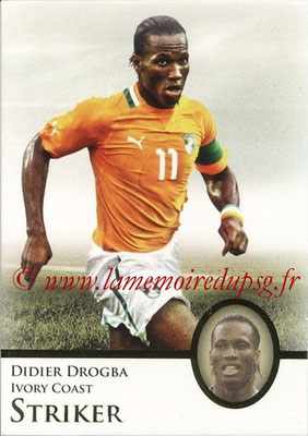 2013 - Futera World Football Unique - N° 072 - Didier DROGBA (Côte d'Ivoire) (Striker)