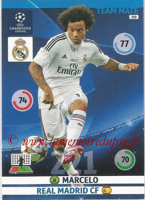 2014-15 - Adrenalyn XL champions League N° 210 - MARCELO (Real Madrid CF)