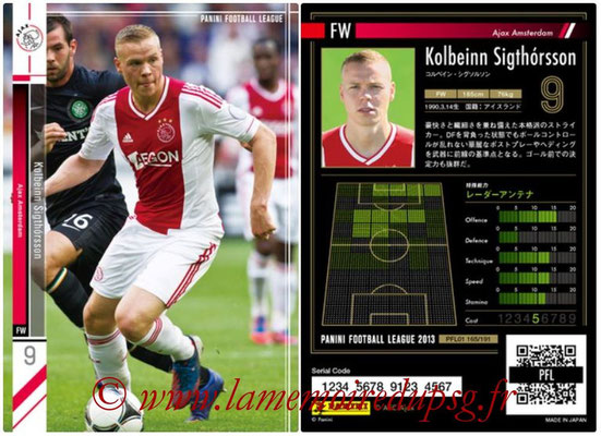 Panini Football League 2013 - PFL01 - N° 165 - Kolbeinn Sigthorsson ( Ajax Amsterdam )