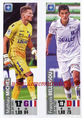 2018-19 - Panini Ligue 1 Stickers - N° 518 - Mathieu MICHEL + François BELLUGOU (AJ Auxerre)