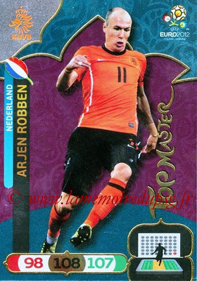Panini Euro 2012 Cards Adrenalyn XL - N° 304 - Arjen ROBBEN (Pays-Bas) (Top Master)