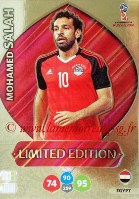 2018 - Panini FIFA World Cup Russia Adrenalyn XL - N° LE-MS - Mohamed Salah (Egypte) (Limited Edition)