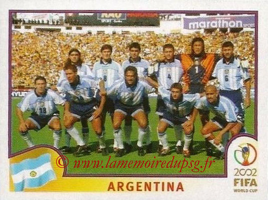 2002 - Panini FIFA World Cup Stickers - N° 385 - Equipe Argentine