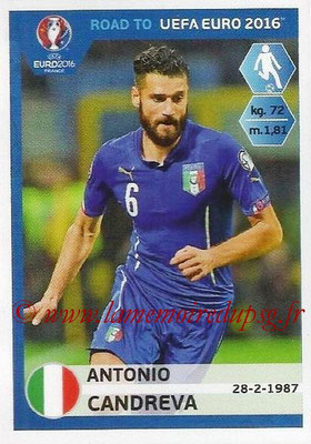 Panini Road to Euro 2016 Stickers - N° 172 - Antonio CANDREVA (Italie)