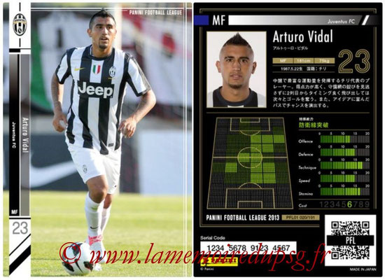 Panini Football League 2013 - PFL01 - N° 020 - Arturo Vidal ( Juventus FC )