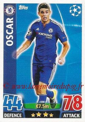 2015-16 - Topps UEFA Champions League Match Attax - N° 138 - OSCAR (Chelsea FC)