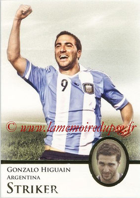 2013 - Futera World Football Unique - N° 079 - Gonzalo HIGUAIN (Argentine) (Stiker)