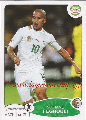2014 - Panini Road to FIFA World Cup Brazil Stickers - N° 375 - Sofiane FEGHOULI (Algérie)