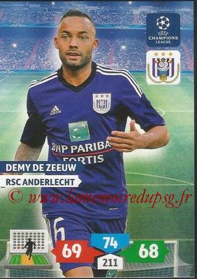 2013-14 - Adrenalyn XL champions League N° 044 - Demy DE ZEEUW (RSC Anderlecht)