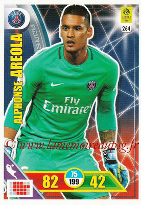 2017-18 - Panini Adrenalyn XL Ligue 1 - N° 264 - Alphonse AREOLA (Paris Saint-Germain)