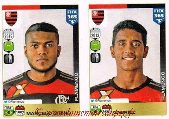 2015-16 - Panini FIFA 365 Stickers - N° 219-220 - Marcelo CIRINO + GABRIEL (CR Flamengo)