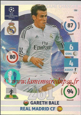 2014-15 - Adrenalyn XL champions League N° 331 - Gareth BALE (Real Madrid CF) (Game Changer)