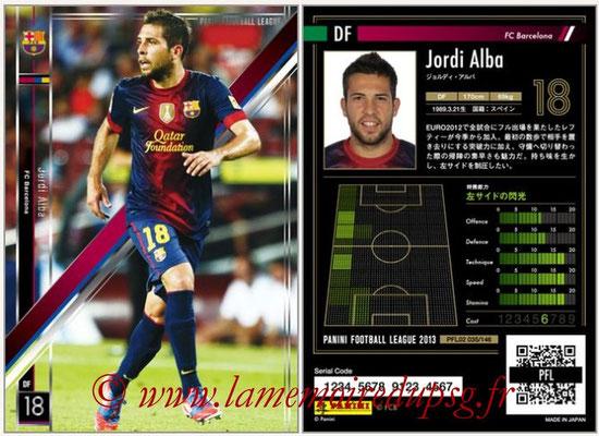 Panini Football League 2013 - PFL02 - N° 035 - Jordi Alba ( FC Barcelona )