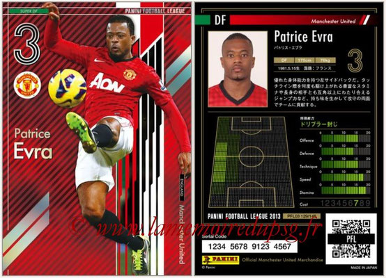 Panini Football League 2013 - PFL03 - N° 129 - Patrice Evra (Manchester United) (Super DF)