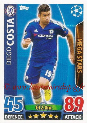 2015-16 - Topps UEFA Champions League Match Attax - N° N08 - Diego COSTA (Chelsea FC) (Mega Stars) (Nordic Edition)
