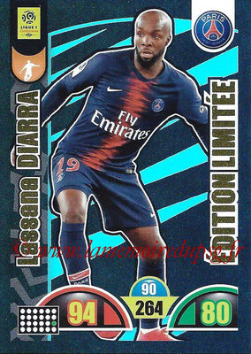 2018-19 - Panini Adrenalyn XL Ligue 1 - N° LE-LD - Lassana DIARRA (Paris Saint-Germain) (Edition Limitée)
