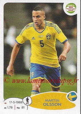 2014 - Panini Road to FIFA World Cup Brazil Stickers - N° 343 - Martin OLSSON (Suède)