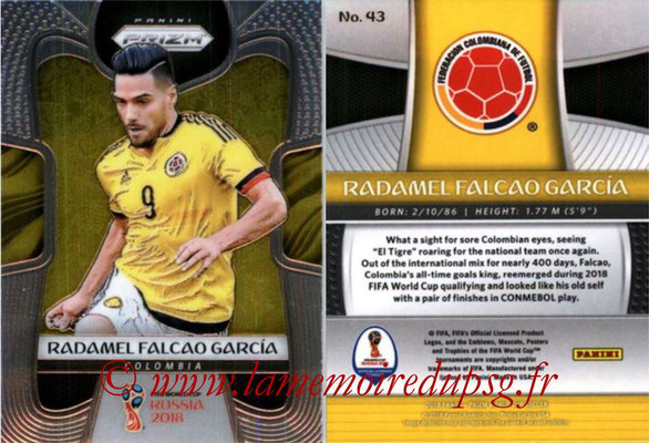 2018 - Panini Prizm FIFA World Cup Russia - N° 043 - Radamel FALCAO (Colombie)