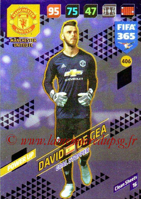 2017-18 - Panini FIFA 365 Cards - N° 406 - David DE GEA (Manchester United) (Goal Stopper)
