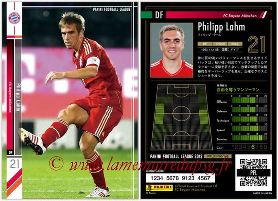 Panini Football League 2013 - PFL03 - N° 090 - Philipp Lahm (Bayern Munich)