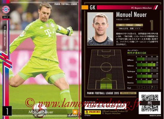 Panini Football League 2015 - PFL13 - N° 065 - Manuel NEUER (FC Bayern Munich)