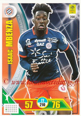 2017-18 - Panini Adrenalyn XL Ligue 1 - N° 208 - Isaac MBENZA (Montpellier)