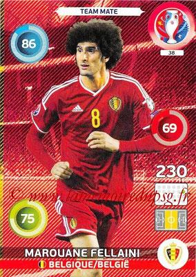 Panini Euro 2016 Cards - N° 038 - Marouane FELLAINI (Belgique)