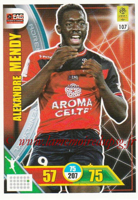 2017-18 - Panini Adrenalyn XL Ligue 1 - N° 107 - Alexandre MENDY (Guingamp)