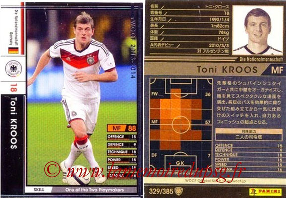 2013-14 - WCCF - N° 329 - Toni KROOS (Allemagne)