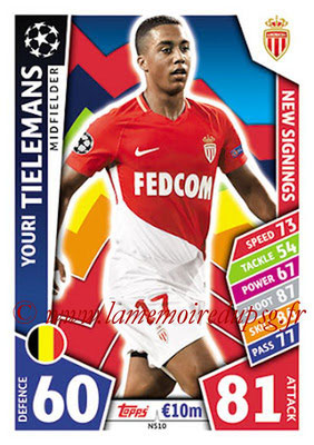 2017-18 - Topps UEFA Champions League Match Attax - N° NS10 - Youri TIELEMANS (AS Monaco) (New Signings)