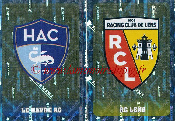 2018-19 - Panini Ligue 1 Stickers - N° 533 - Ecussons Le Havre AC + RC Lens