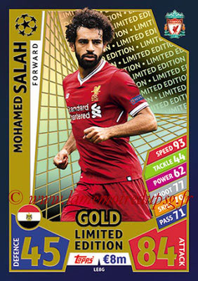 2017-18 - Topps UEFA Champions League Match Attax - N° LE8G - Mohamed SALAH (Liverpool) (Limited Edition Gold)