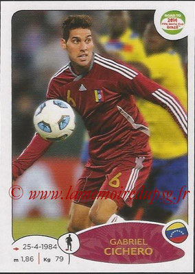 2014 - Panini Road to FIFA World Cup Brazil Stickers - N° 230 - Gabriel CICHERO (Vénézuela)