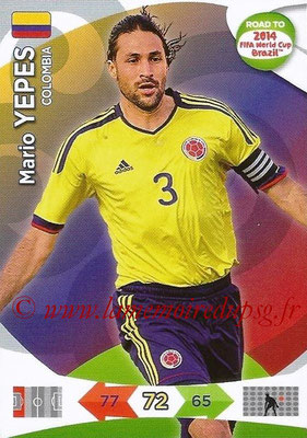2014 - Panini Road to FIFA World Cup Brazil Adrenalyn XL - N° 030 - Mario YEPES (Colombie)