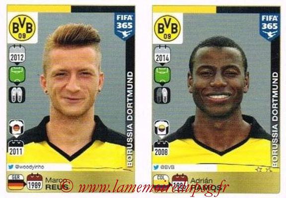 2015-16 - Panini FIFA 365 Stickers - N° 519-520 - Marco REUS + Adrián RAMOS (Borussia Dortmund)