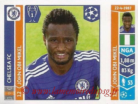 2014-15 - Panini Champions League N° 502 - John OBI MIKEL (Chelsea FC)
