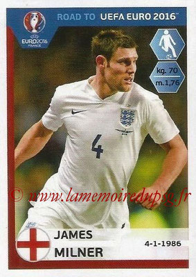 Panini Road to Euro 2016 Stickers - N° 073 - James MILNER (Angleterre)