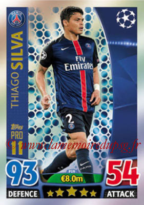 2015-16 - Topps UEFA Champions League Match Attax - N° P19 - Thiago SILVA (Paris Saint-Germain) (Pro 11)