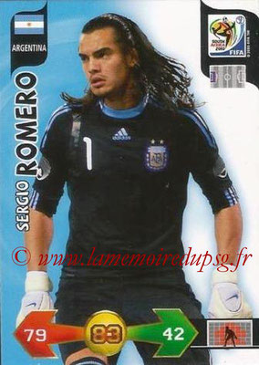 2010 - Panini FIFA World Cup South Africa Adrenalyn XL - N° 006 - Sergio ROMERO (Argentine)