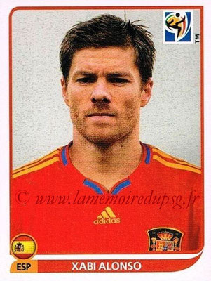2010 - Panini FIFA World Cup South Africa Stickers - N° 574 - Xavi ALONSO (Espagne)