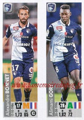 2018-19 - Panini Ligue 1 Stickers - N° 535 - Alexandre BONNET + Alimami GORY (Le Havre AC)