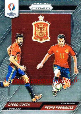 Euro 2016 Panini Prizm - N° CCD-11 - Diego COSTA + Pedro RODRIGUEZ (Espagne) (Country Combinaions Duals)