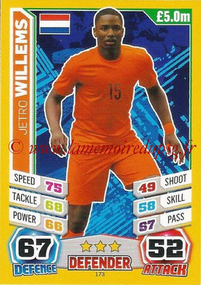 Topps Match Attax England 2014 - N° 173 - Jetro WILLEMS (Pays-Bas)