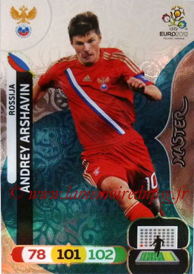 Panini Euro 2012 Cards Adrenalyn XL - N° 298 - Andrey ARSHAVIN (Russie) (Master)