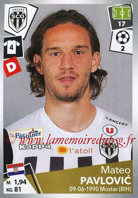 2017-18 - Panini Ligue 1 Stickers - N° 031 - Mateo PAVLOVIC (Angers)