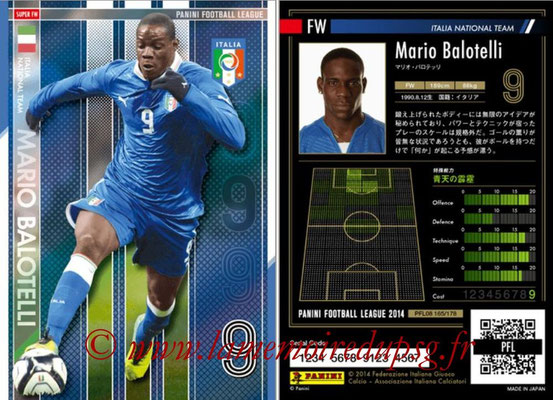 Panini Football League 2014 - PFL08 - N° 165 - Mario BALOTELLI (Italie) (Super FW)