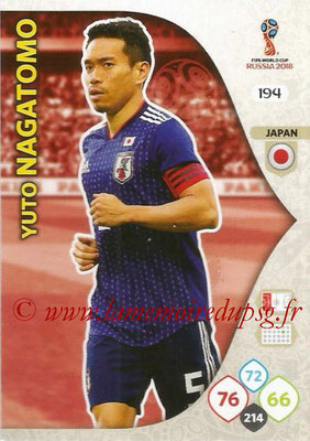 2018 - Panini FIFA World Cup Russia Adrenalyn XL - N° 194 - Yuto NAGATOMO (Japon)